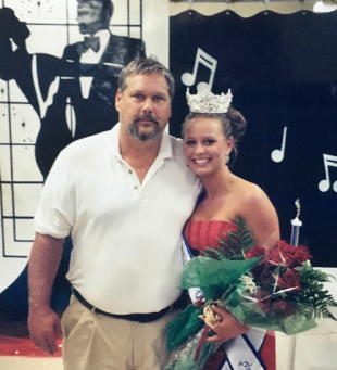 With my Daddy the night I won the NC Spot Festival Queen title. (September 2003)