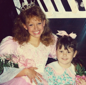 With Jordan after winning the title of Little Miss Duplin County 1996.