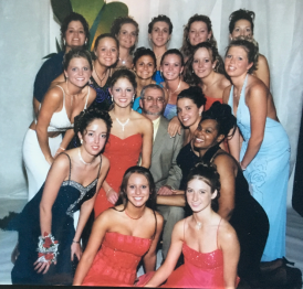 Basketball girls at Prom 2003