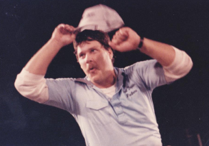 Daddy after East Duplin defeated Wallace Rose-Hill in 1987.