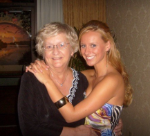 With Aunt Rita at Brad and Jen's wedding.