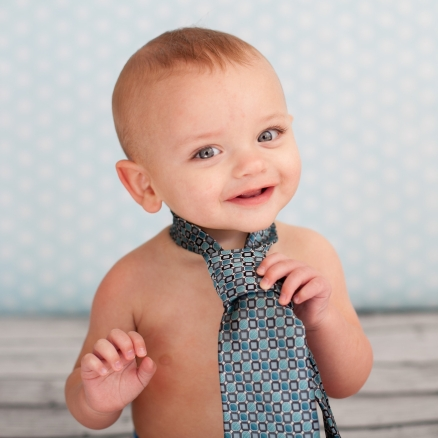 Jase's 1 year old photo shoot. Wearing Daddy's tie! (Photography by www.facebook.com/paigeleephoto)