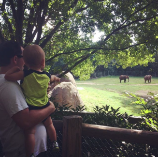 At the NC Zoo with Daddy and Mommy (Summer 2016)
