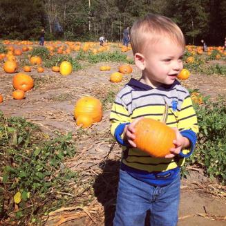 Jase visiting a pumpkin patch! (Fall 2016)